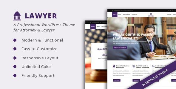 Lawyer - Attorney & Lawfirm WordPress Theme