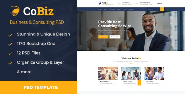 CoBiz - Business & Consulting PSD Template - Business Corporate