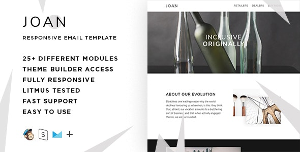 Joan  – Responsive HTML Email + StampReady, MailChimp & CampaignMonitor compatible files - Email Templates Marketing
