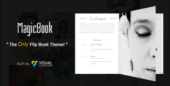 MagicBook - A 3D Flip Book WordPress Theme - Portfolio Creative