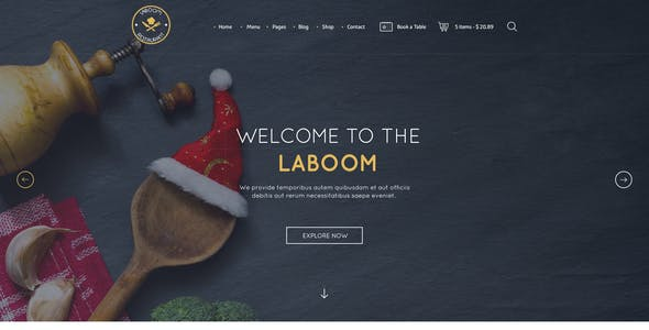 La Boom - Food & Restaurant PSD Template