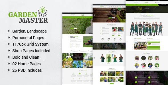 Garden Master - Gardening and Landscaping PSD Template - Business Corporate