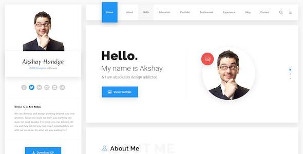 Hello - Resume Google Material PSD Template