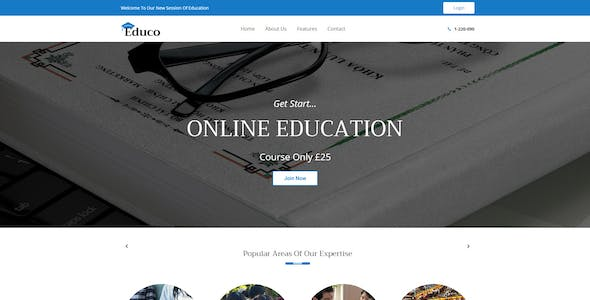 Education - eLearning Html Template