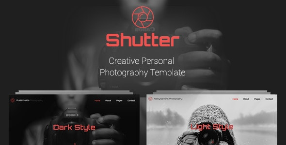 Shutter - Creative Personal Photography Template - Photography Creative