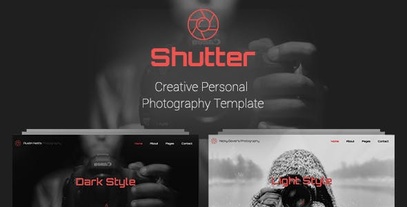 Shutter - Creative Personal Photography Template