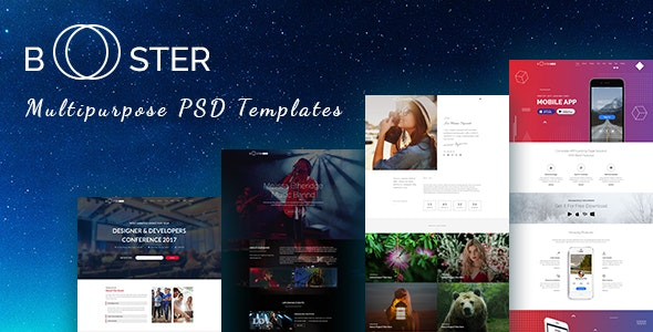 Booster -  Business and multipurpose PSD Template - Business Corporate