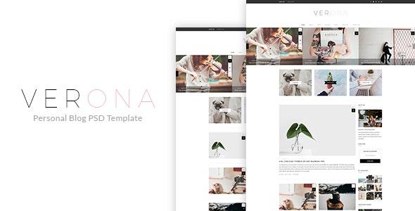Verona - Personal Blog PSD Template - Photoshop UI Templates
