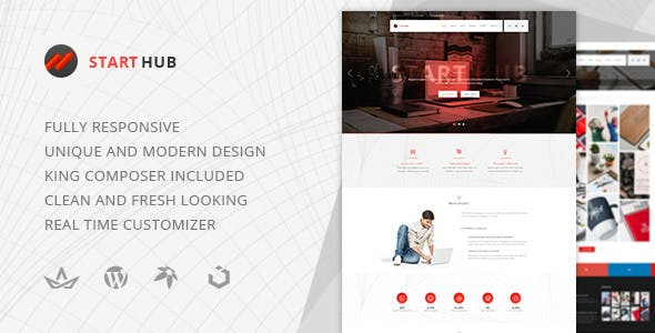 StartHub — Clean Multipurpose Business/Corporate/Blog WordPress Theme