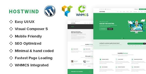 HostWind - Hosting WordPress theme with WHMCS