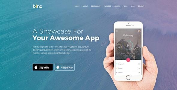 Binz | App Landing Joomla Template - Joomla CMS Themes