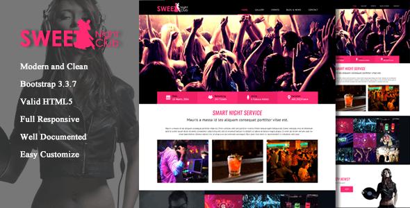 Sweet Night Club - responsive template