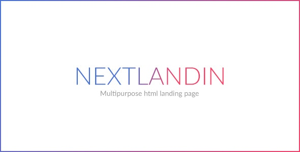 NEXT - MULTIPURPOSE LANDING PAGE - Landing Pages Marketing
