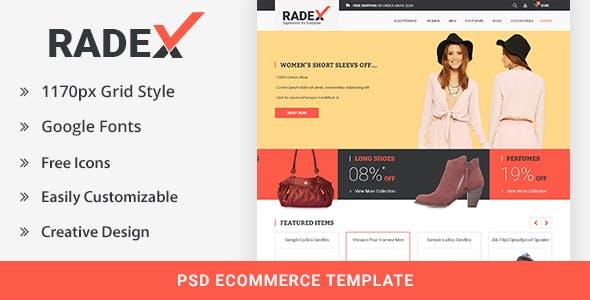 RADEX Ecommerce PSD Template