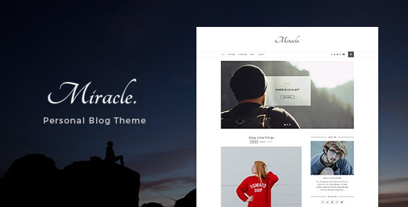Miracle - Personal Blog PSD Template - Photoshop UI Templates