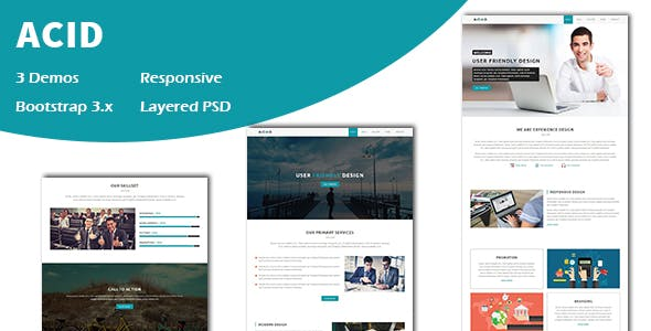 Acid - Multipurpose Responsive One page HTML Template