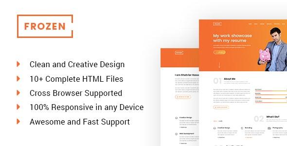 Frozen - Frelancer Minimal Portfolio HTML5 Template - Portfolio Creative