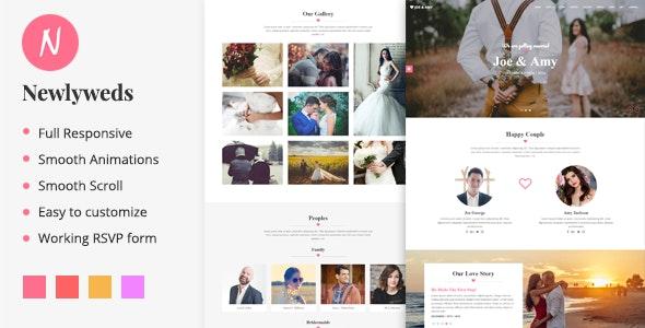 Newlyweds - Modern HTML Wedding Template - Wedding Site Templates