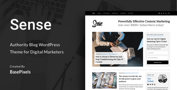 Sense - Authority Blog WordPress Theme - Blog / Magazine WordPress