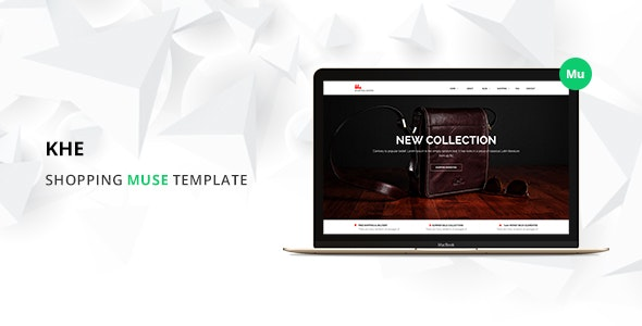 Khe Online Shopping Responsive Muse Template - eCommerce Muse Templates