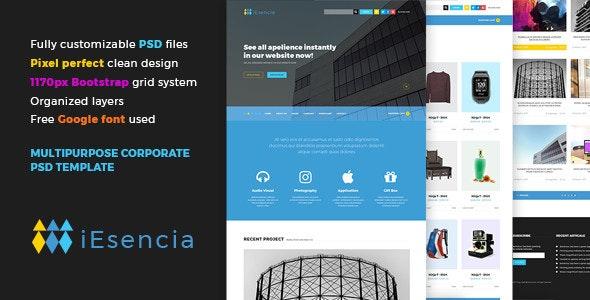 iEsencia Multipurpose Corporate PSD Template - Corporate Photoshop