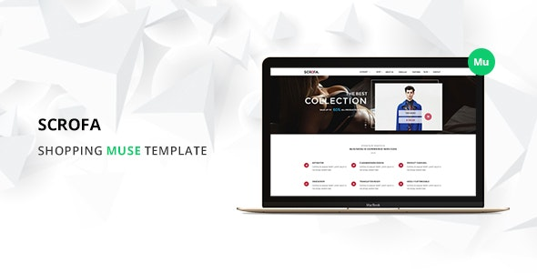 Scrofa Ecommerce Muse Template - eCommerce Muse Templates