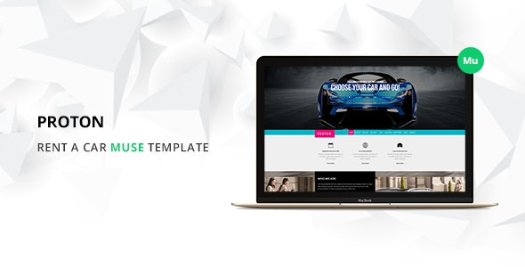 Proton Car Rental and Sales Muse Template - Miscellaneous Muse Templates