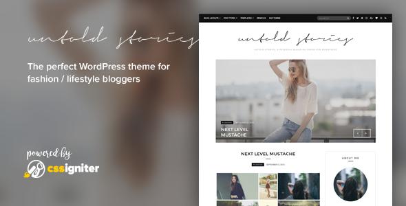 Fashion Blog Theme - Untold Stories - Blog / Magazine WordPress