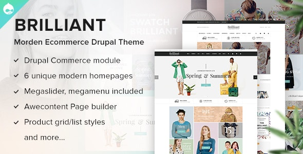 Brilliant - Morden Ecommerce Drupal Theme - Shopping Retail