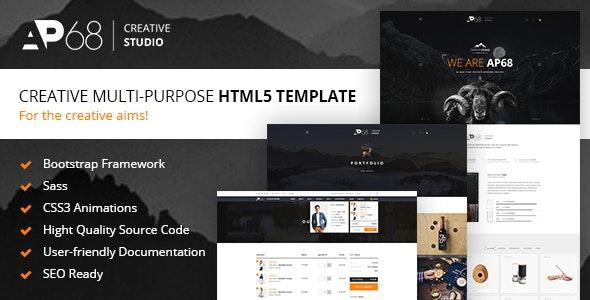 AP68 - Creative Multi-Purpose HTML5 Template - Portfolio Creative