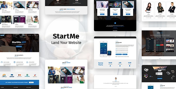 Startme - Landing pages for Mobile App, Products, Software, Hosting & Business - Software Technology