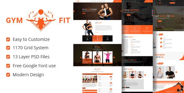 Gym Fit Fitness PSD Template - Health & Beauty Retail