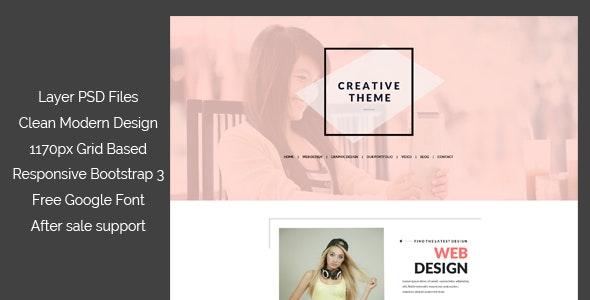 One Page Creative PSD Template - Portfolio Creative
