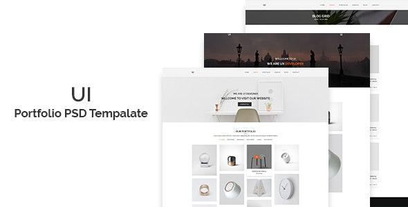 UI - Portfolio PSD Template - Portfolio Creative