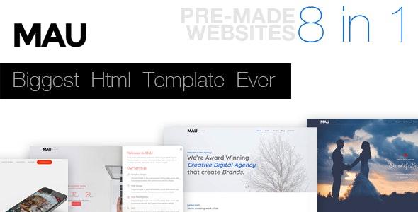 Mau - Biggest Html Template Ever - Creative Site Templates
