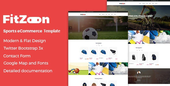 Fitzoon - Sports Shop HTML Template - Shopping Retail