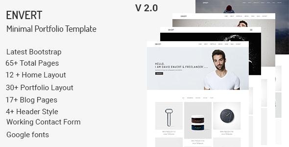 Envert - Minimal Portfolio Template - Portfolio Creative