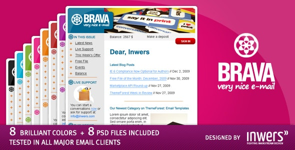 BRAVA - a corporate nice e-mail - Newsletters Email Templates