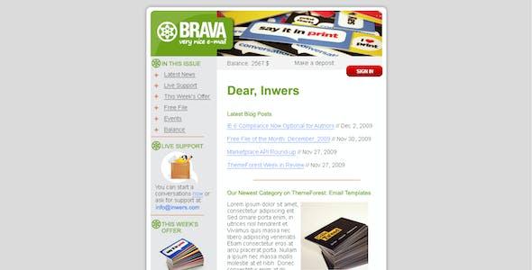 BRAVA - a corporate nice e-mail