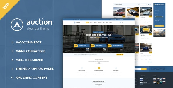 Auction - Car Dealer WooCommerce WordPress Theme - Corporate WordPress