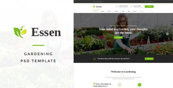 Essen - Gardening PSD Template - Business Corporate