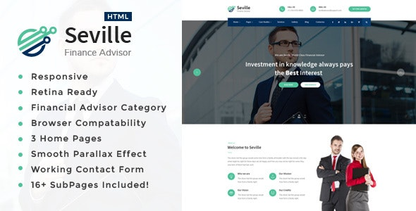 Seville - Business Consulting and Professional Services HTML Template - Business Corporate