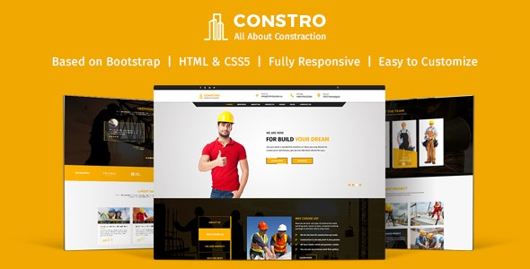 Constro - Construction Business HTML5 Template - Corporate Site Templates