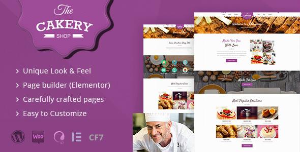 Cakeryshop - Cake Bakery WordPress Theme - WordPress