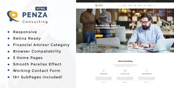 Penza : Business Consulting and Professional Services HTML Template - Business Corporate