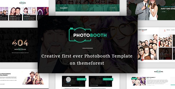PhotoBooth - Photo Booth template - Creative Site Templates