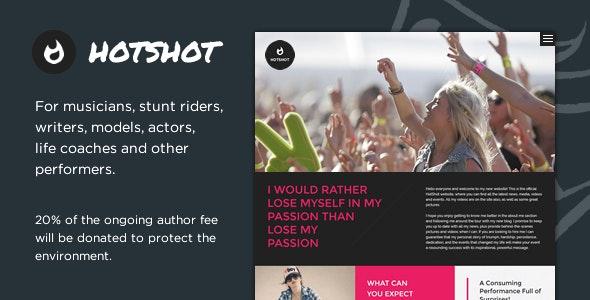 HotShot - Self Promotion HTML Template - Personal Site Templates