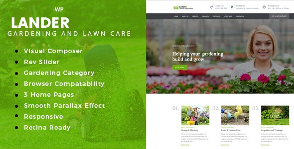 Lander -  Landscaping WordPress Theme - Business Corporate