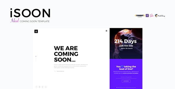 iSOON - Ideal Coming Soon Template - Under Construction Specialty Pages