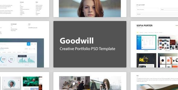 Goodwill – Creative Portfolio PSD Template - Portfolio Creative